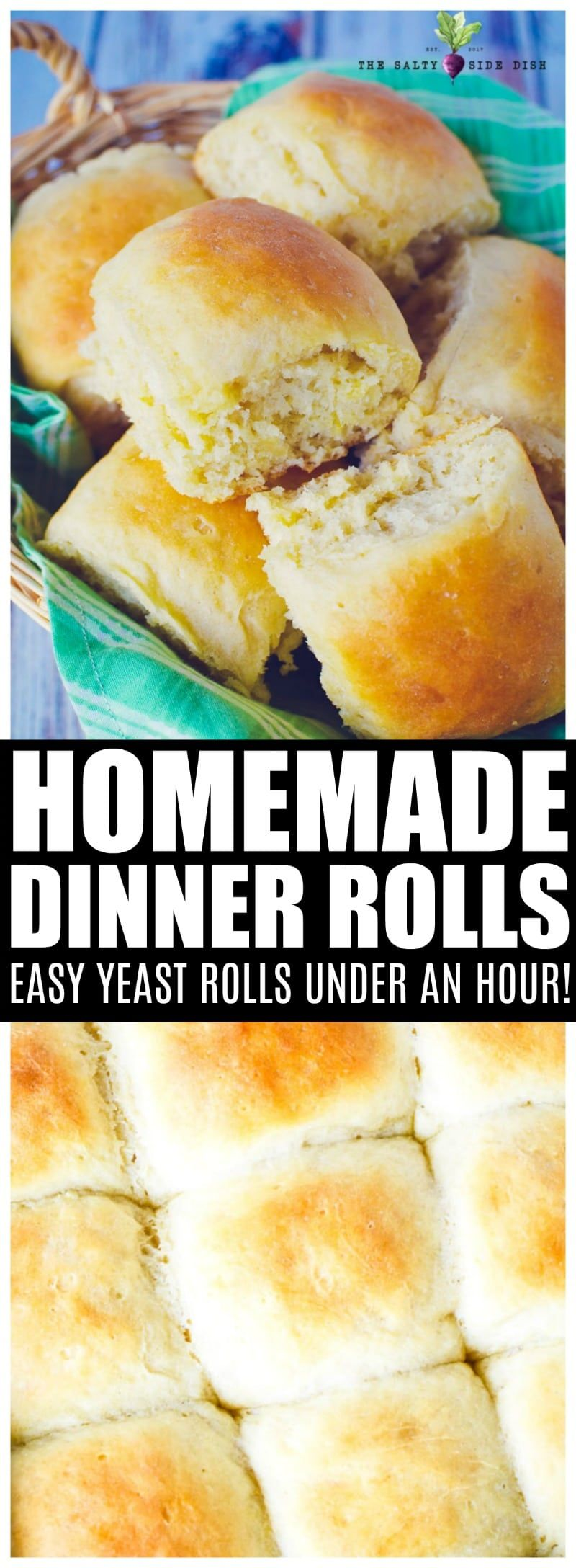 Easy Dinner Rolls | No Knead and Homemade images