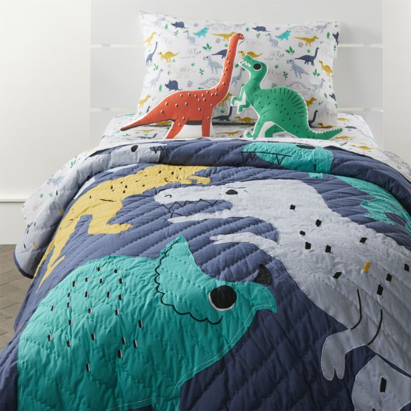 This Exclusive Dinosaur Bedding Is Covered With Appliqued