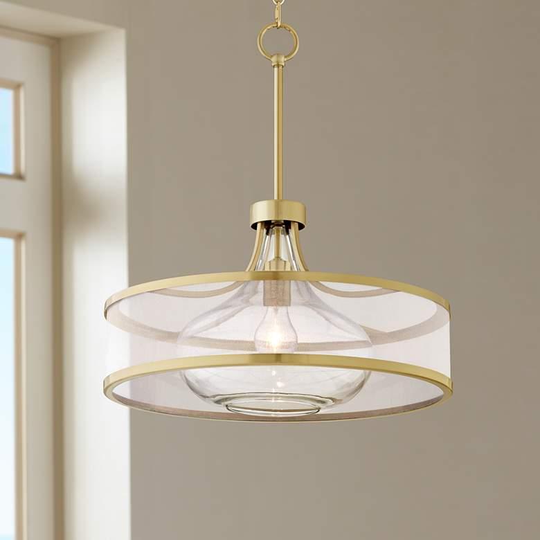 Possini Euro Layne 19 Wide Warm Antique Brass Pendant Light 23n44 Lamps Plus Brass Pendant Light Antique Brass Pendant Light Gold Pendant Lighting
