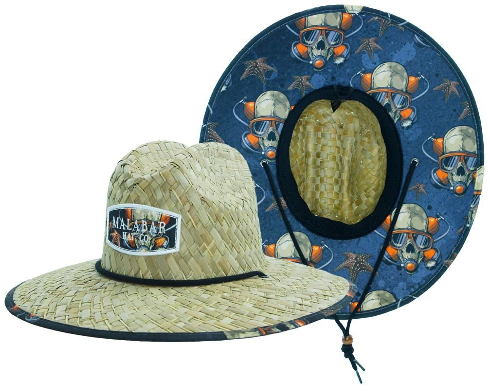Diver Sun Hat Straw Hat For Beach Boating Fishing Walking Or Hanging By The Pool In 2021 Straw Hat Lifeguard Hat Sun Hats
