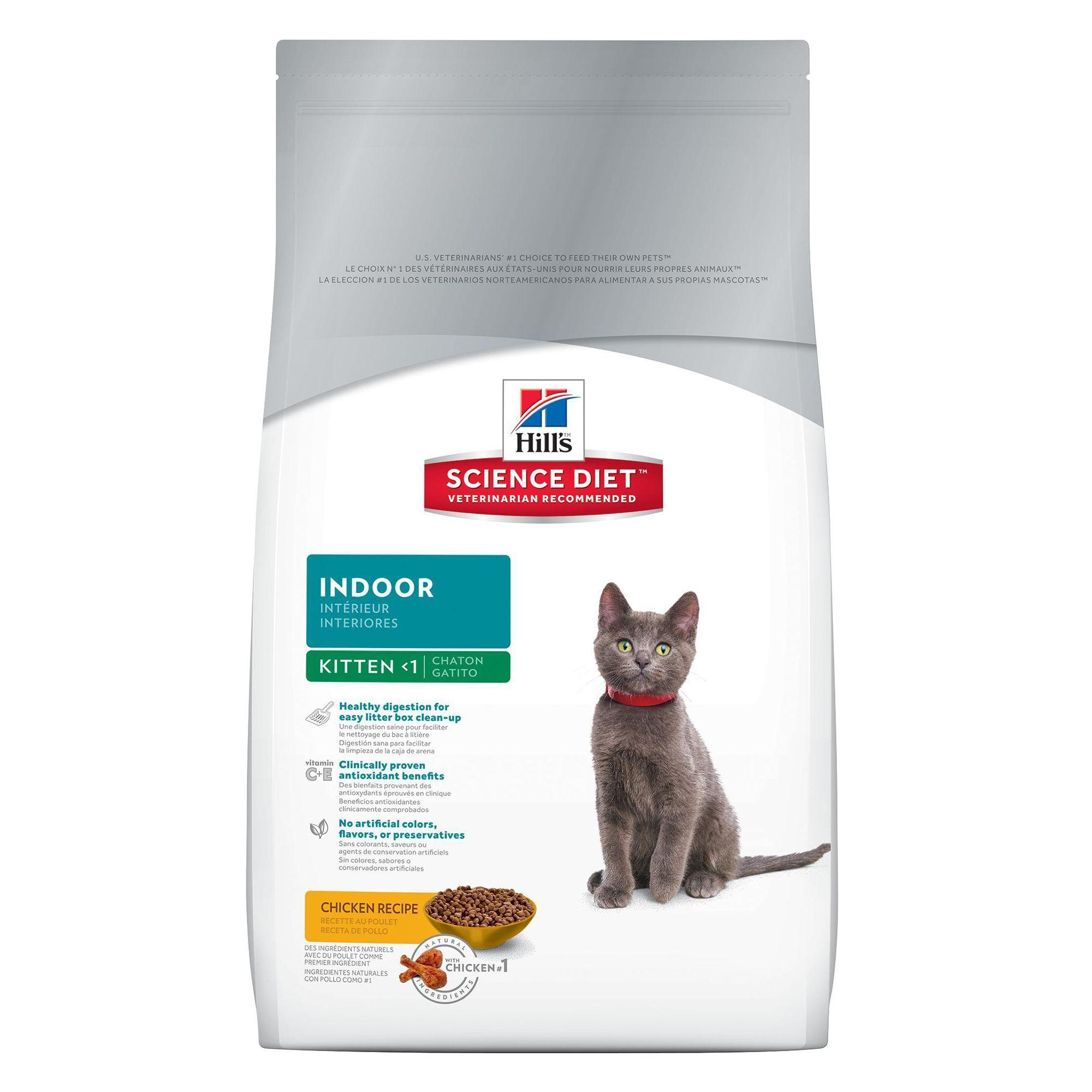 Hill's Science Diet Indoor Kitten Food Chicken size 3.5