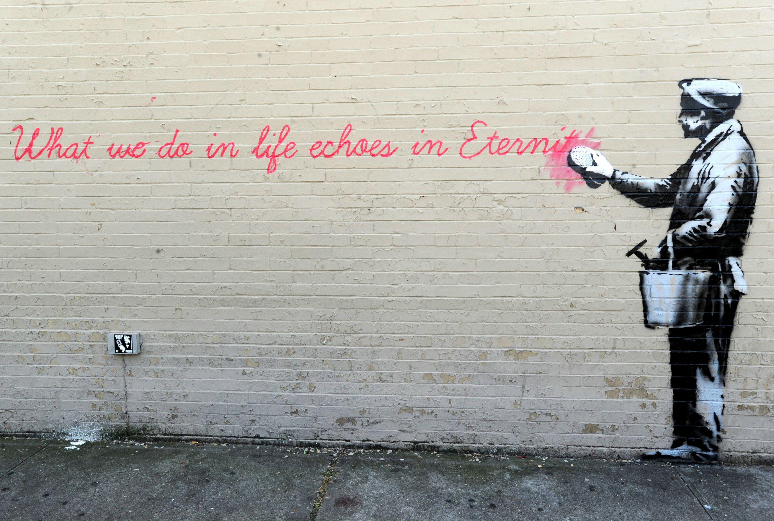 42 Banksy Backgrounds Banksy, Grafiteiros e Arte de rua