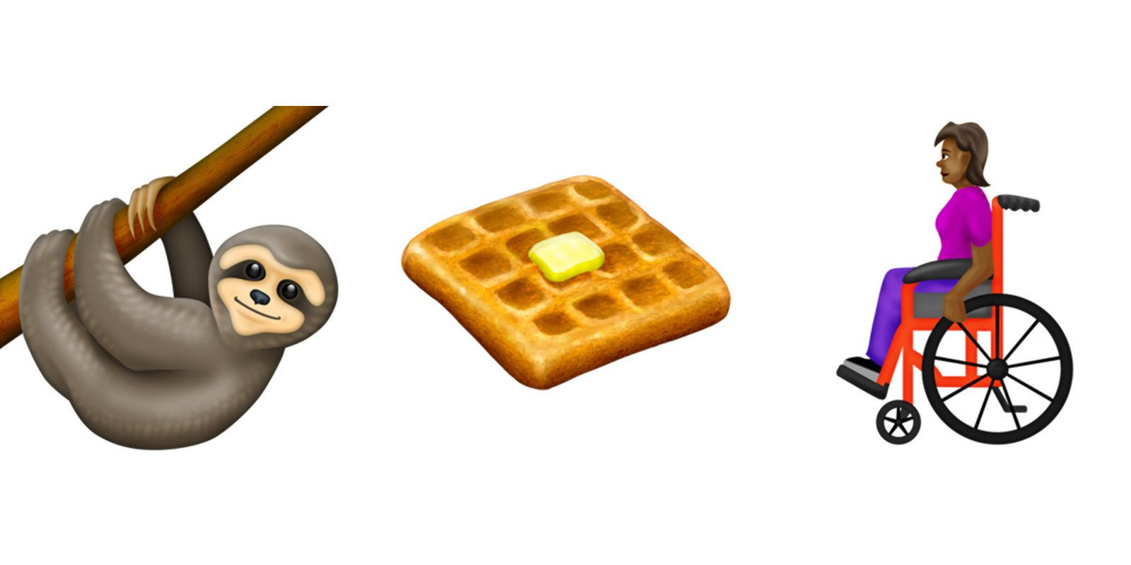 New Emoji For 2019 Include Wheelchairs Waffles And Sloths Sloth New Emojis Emoji