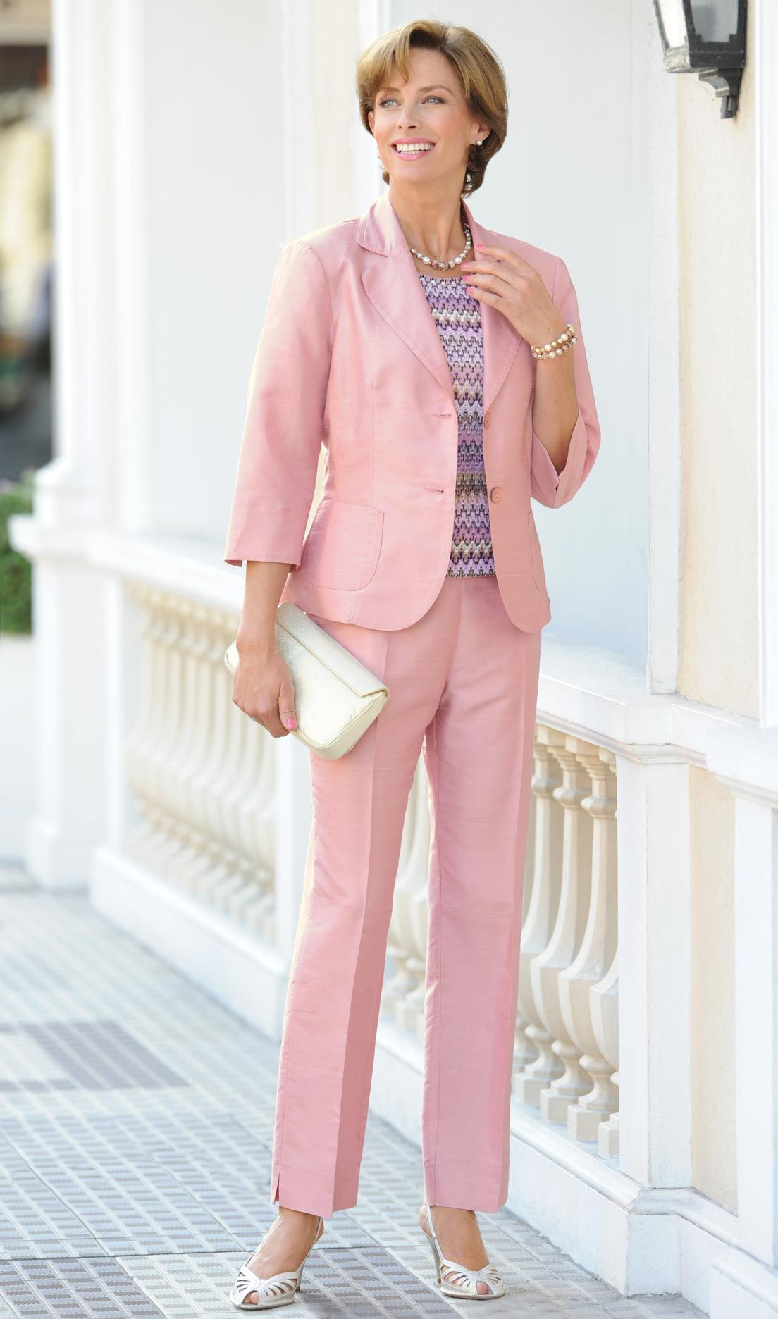 womens pink suit | women suits | Pinterest | Pink, Suits and Pants