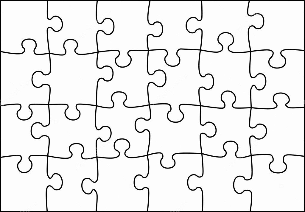 30 Piece Puzzle Template Awesome Transparent Vector Puzzle