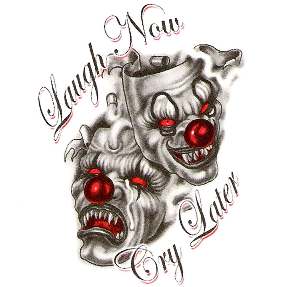 pin evil clown tattoos designs and meaning leaftattoocom on
