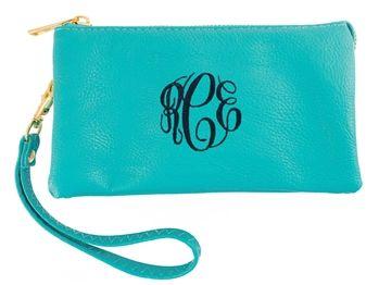 Monogram Aqua Clutch Wallet | $28 | jewelboxonline.com