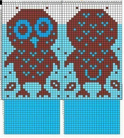 Схемы рисунков для вязания спицами для детских носков