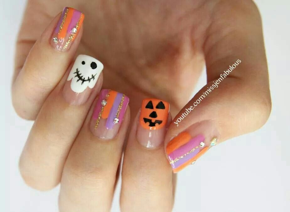 Pin by Marie.marie Nandez on Nails | Halloween nails, Cute ...