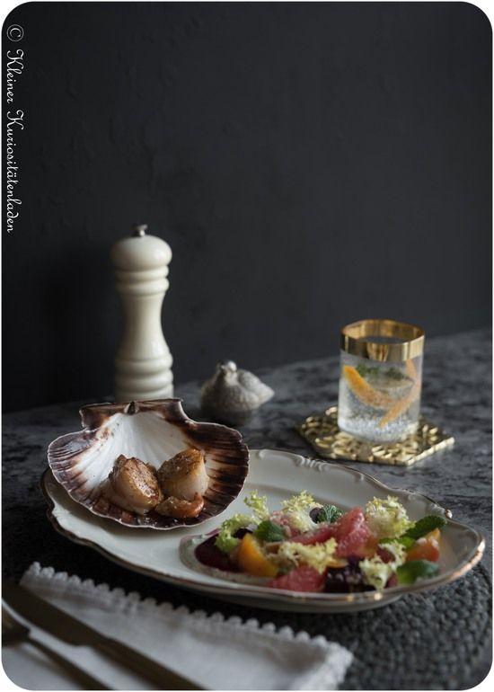 Jakobsmuscheln | Gebackene Bete | Pink Grapefruit