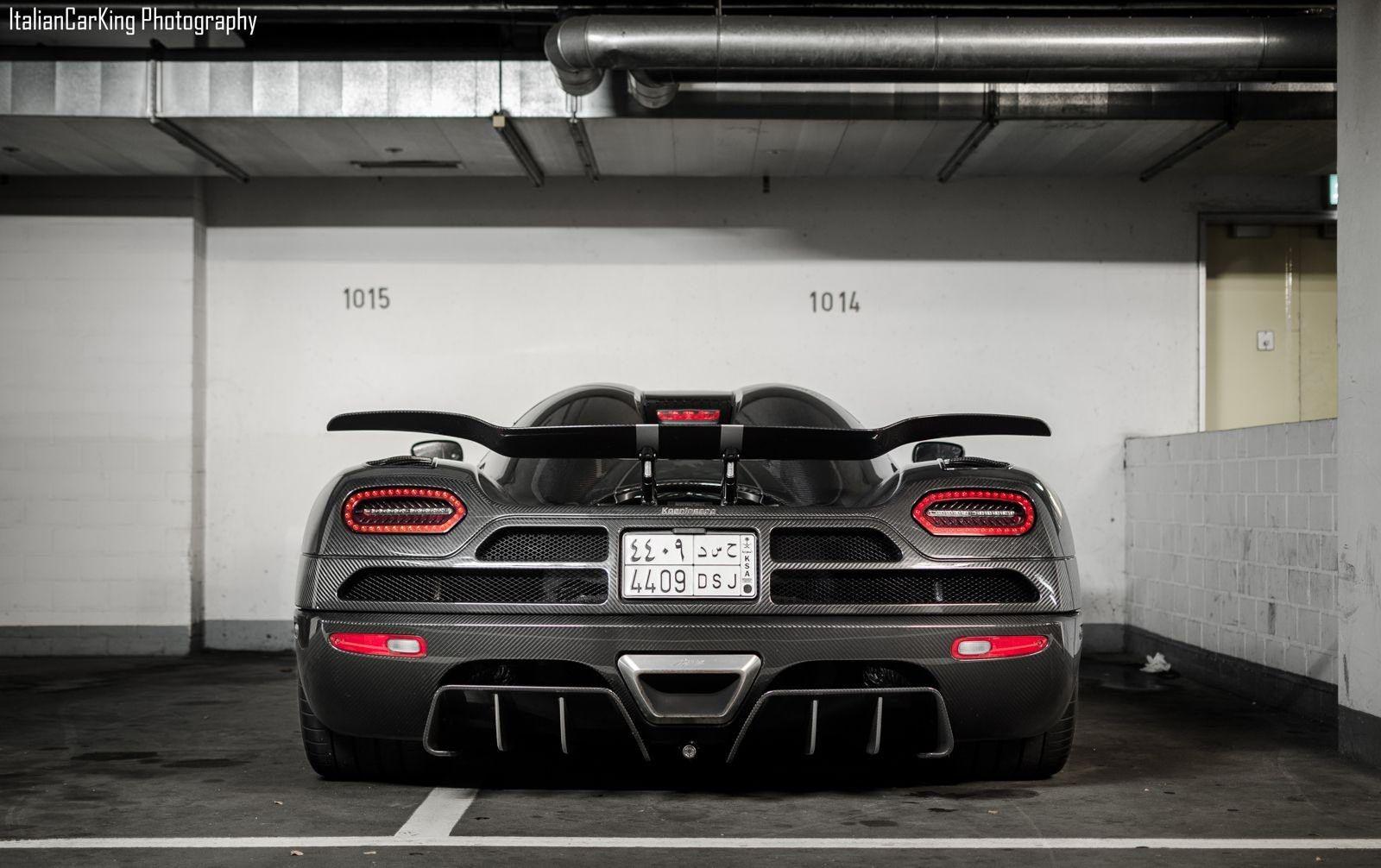 Carbon Fiber Koenigsegg Agera R In Underground Parking Garage Rear