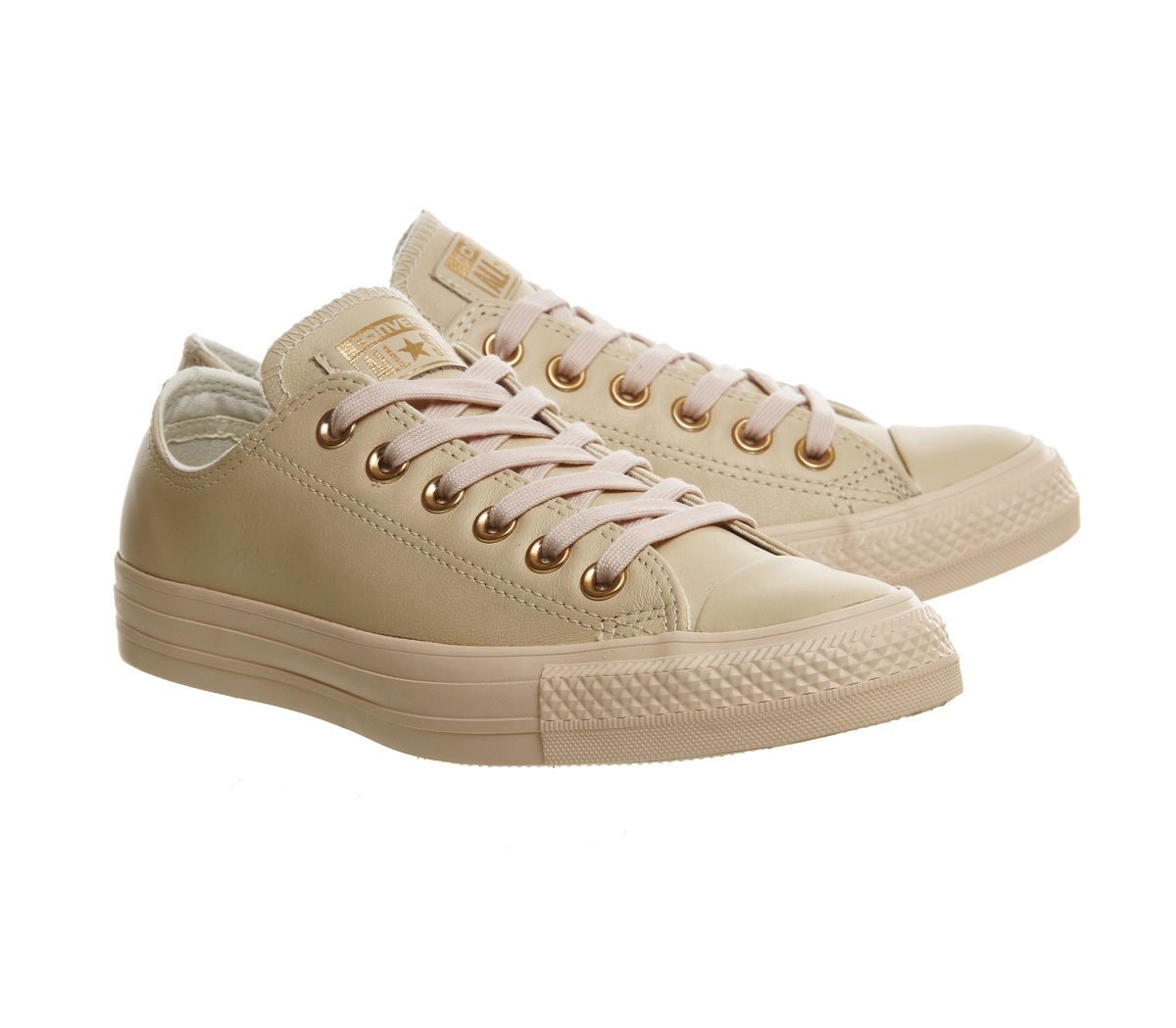 Converse All Star Low Leather Pastel Rose Tan Rose Gold - Hers trainers