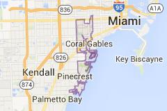 Coral Gables Florida Map.Map Of Coral Gables Florida Take Me Away Pinterest