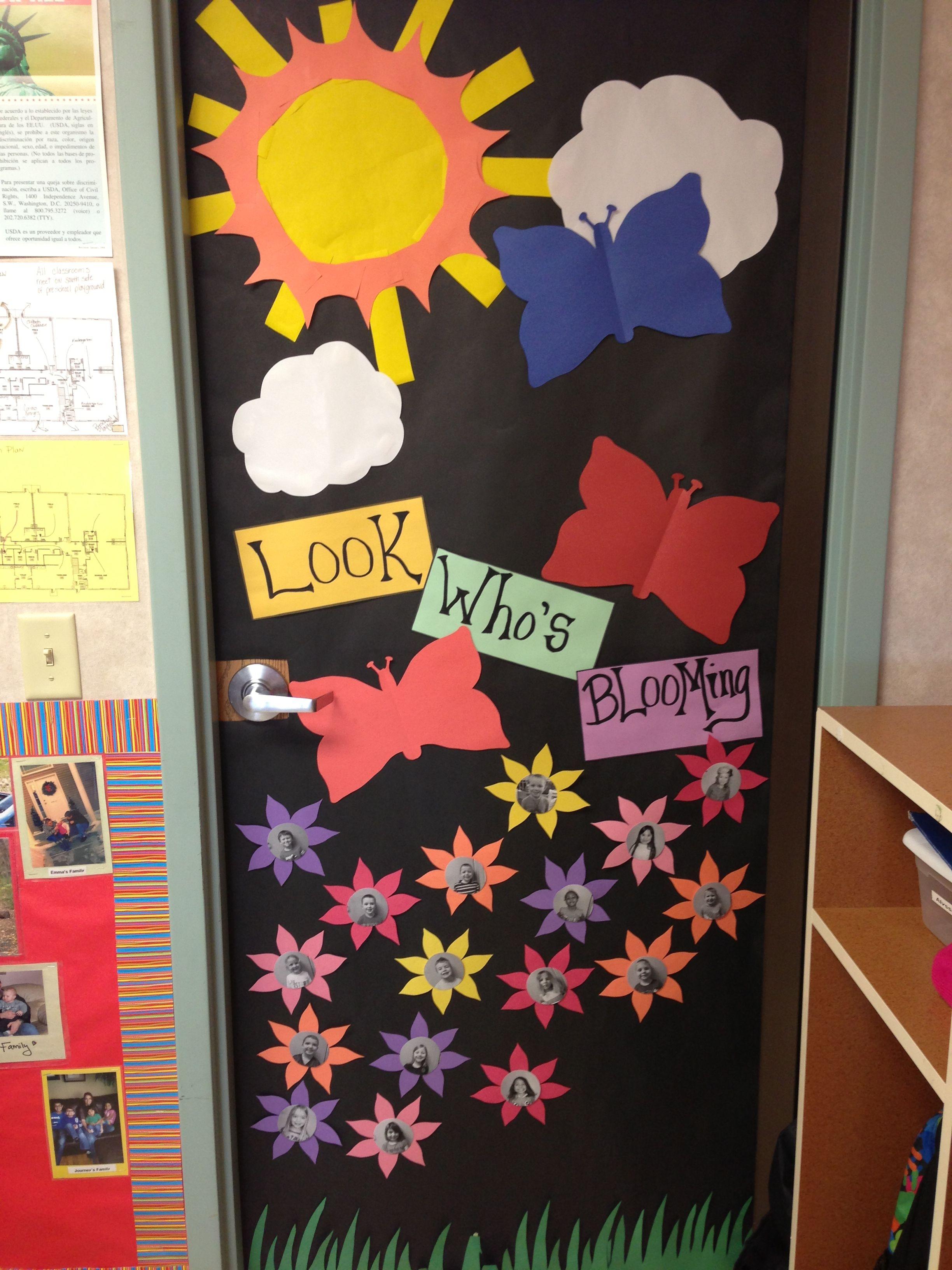 Summer Classroom Decorations Ideas : My spring classroom door school classroom door