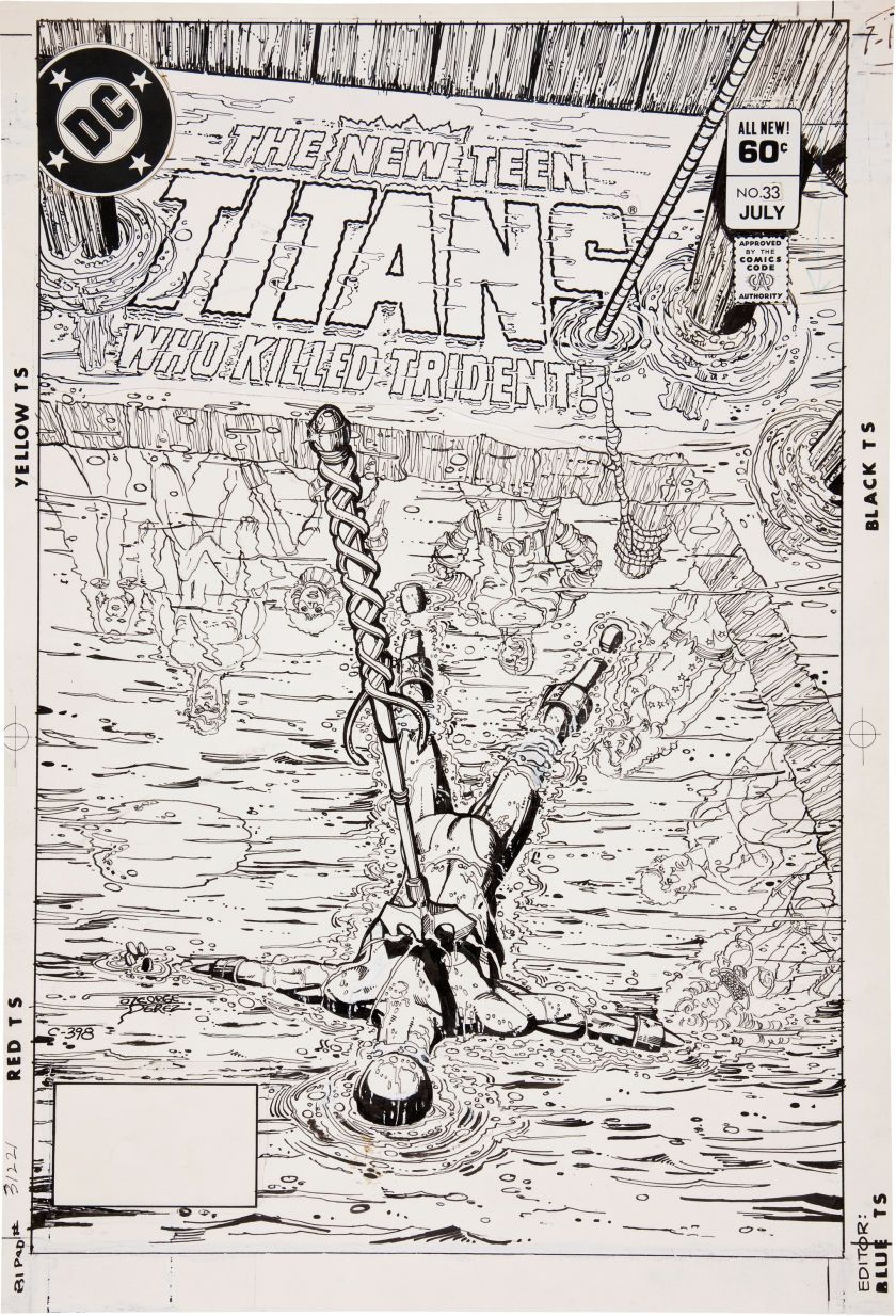 Original Comic Art:Covers, George Perez The New Teen Titans #33 Cover Original Art (DC,1983).... Image #1