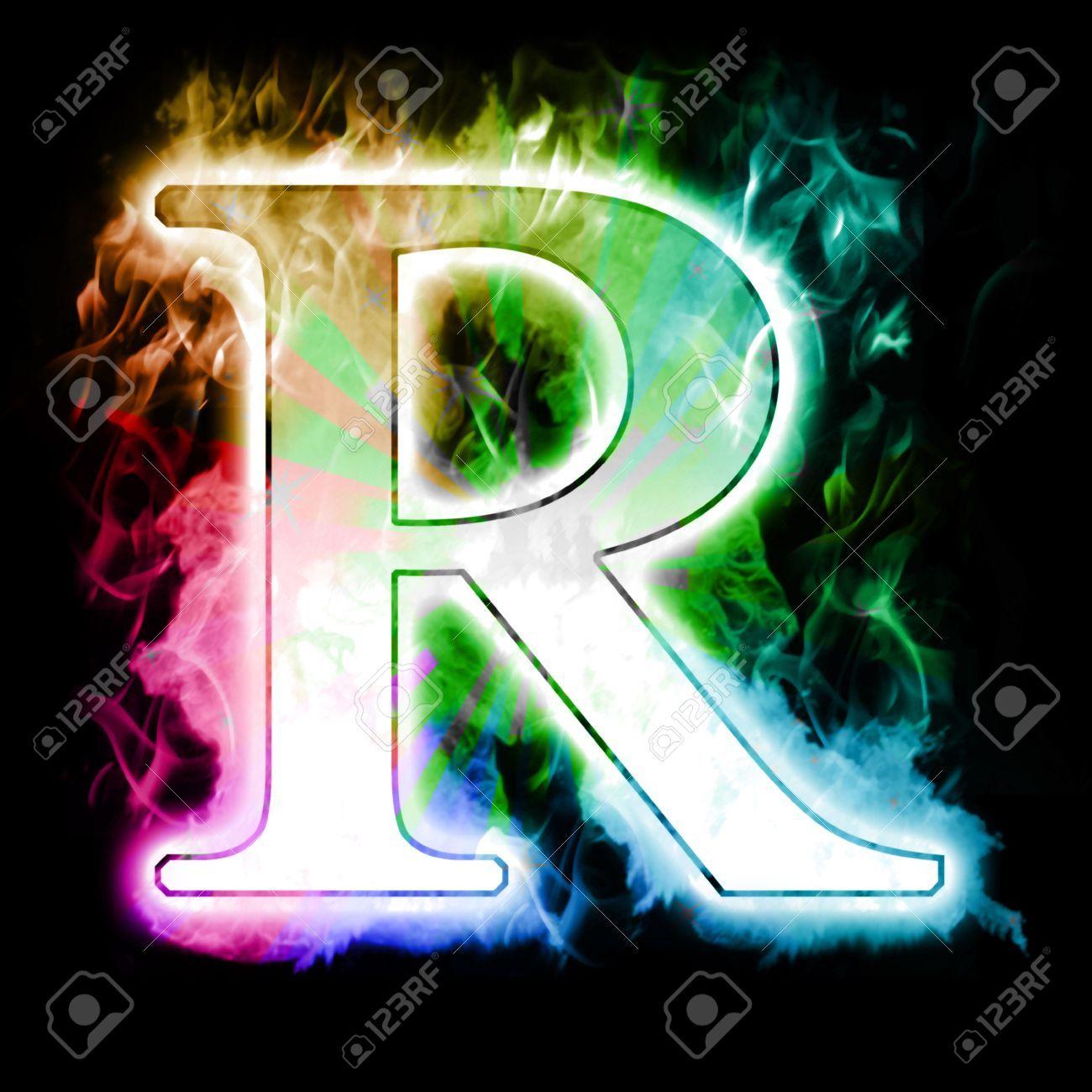 Rainbow Letter R