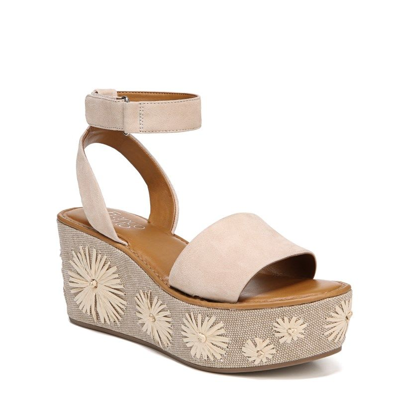 37111ae56d8f Franco Sarto Women s Jovie Wedge Sandals (Light Bone Leather ...