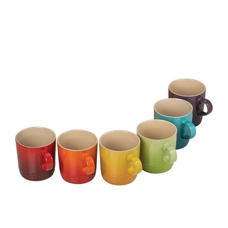 Buy Le Creuset Mugs 350ml Set 6 Rainbow Purchase Today Enjoy Award Winning Customer Service Fast Shipping Le Creuset Mugs Mugs Rainbow Kitchen
