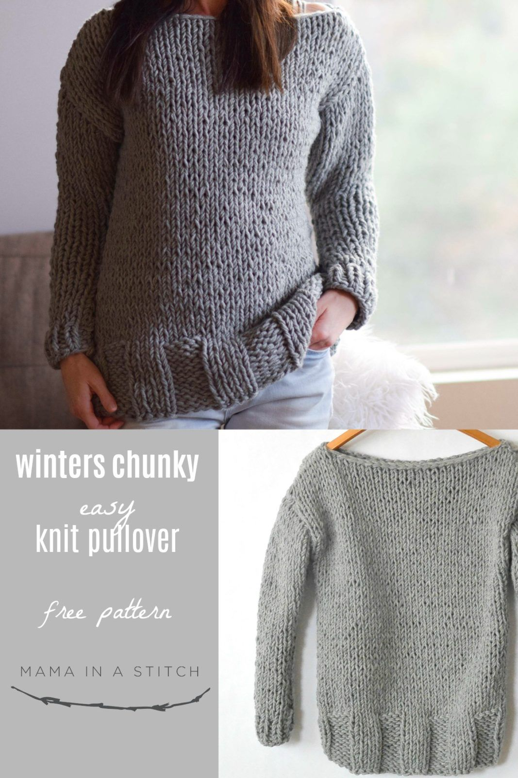 65b3d28e1 How To Knit A Super Chunky Pullover The ultimate knitting accomplishment.  KNITTING. A. SWEATER. (cue dramatic music) The truth is that most sweater  patterns ...