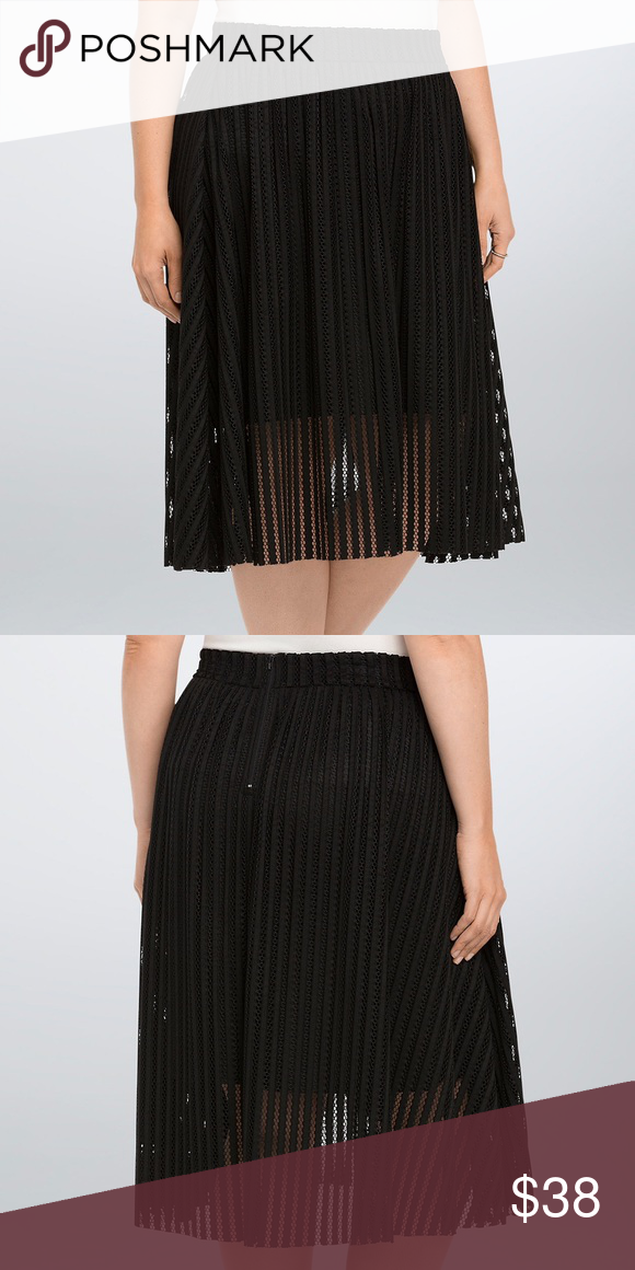 525724ae769  59 Torrid Mesh Stripe Skirt Black Size 14 NWT Up for Sale is a Torrid Mesh  Stripe A-Line Midi Skirt Brand New With Tags! Plus Size 14 Retails For   58.50 A ...