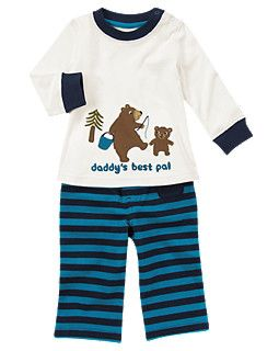 Bear Two Piece Set Toddler Outfits Baby Boy Outfits Kids Outfits