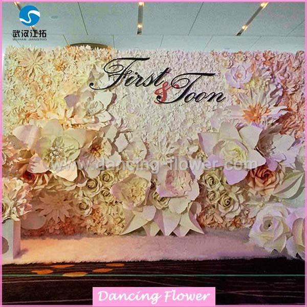 Wedding Stage Flower Decoration: Wedding Stage Flower Decoration Paper Flowers Wedding Wall