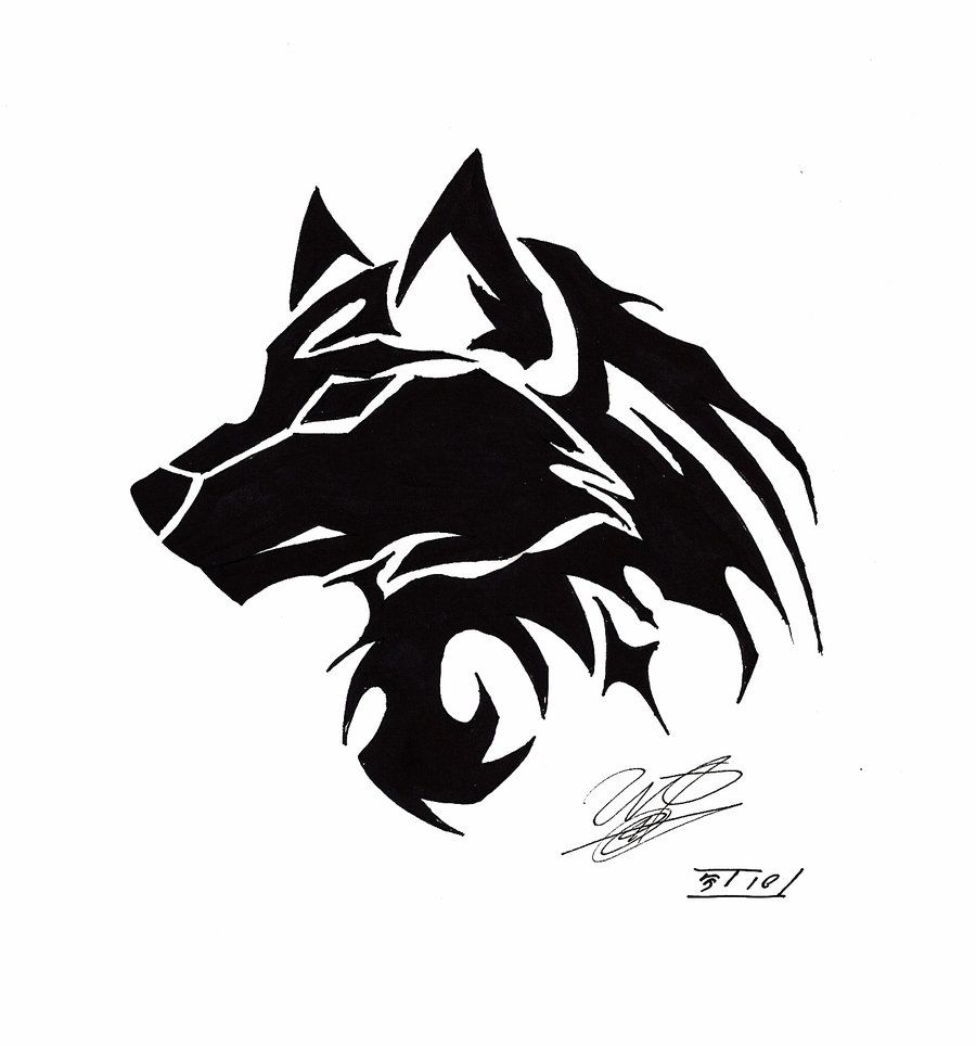 22d0ac128 tribal wolf tattoo - Google Search … | Tattoo's and piercings | Wolf …