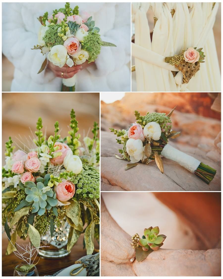 Photo by Cactus & Lace Weddings Desertthemed wedding with