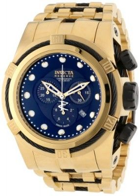 5c74dfc8d34 Relógio Invicta Men s 12737 Bolt Reserve Chronograph Black Dial 18k Gold  Ion-Plated Stainless Steel Watch  relogio  invicta