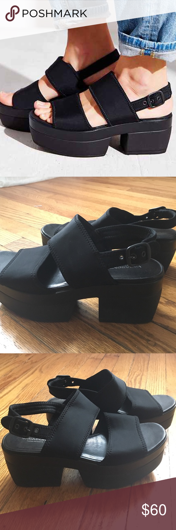 81b800ee8ae4 Vagabond Lindi Sandals Vagabond black Lindi Sandal. Only been worn a few  times. Urban Outfitters Shoes Sandals