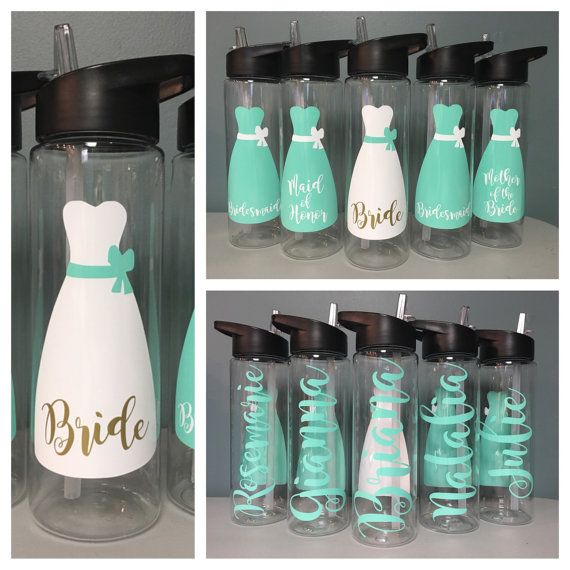 Do Bridesmaids Buy Wedding Gifts: Wedding Water Bottle