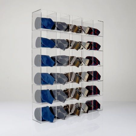 Premium Clear Acrylic Tie Display Unit Designed To Hold And Display Best Retail Shoe Display Stands Uk