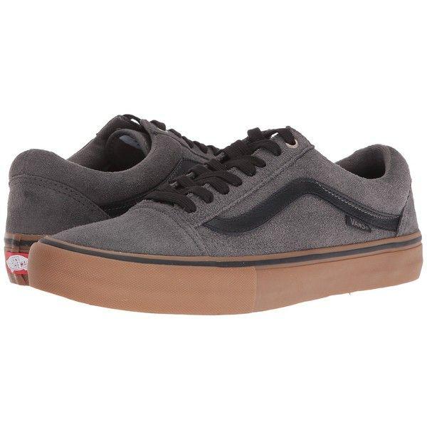 Vans Old Skool Pro (Grey/Black/Gum) Men's Skate Shoes (€