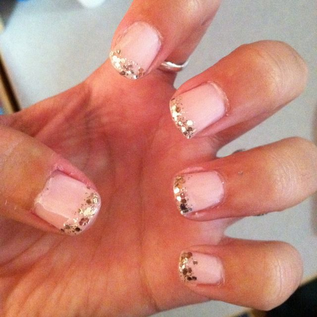 Light pink nails with glitter tips | NAILS DONE, HAIR DONE ...