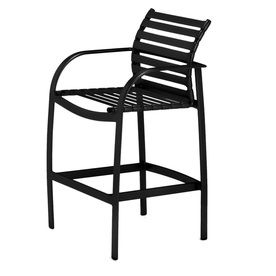 sun isle preston black aluminum patio barstool chair lw 5054m 4