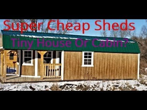 Super Cheap Sheds Off Cabine de grille Tiny Accueil YouTube