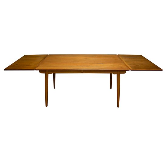 Charmant Leaf Teak Dinning Table. These Leaves Are Stored Underneath The Main Table  Surface And Pull