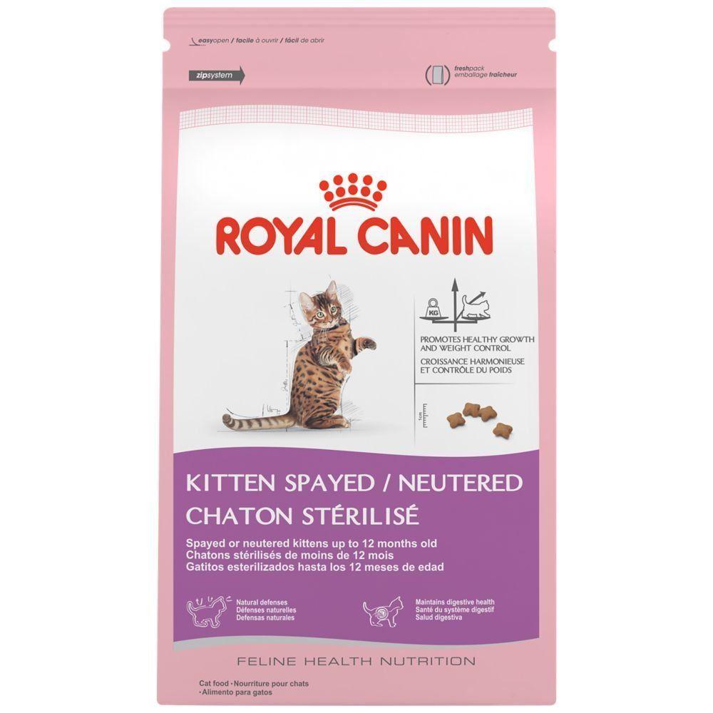 Royal Canin Feline Health Nutrition Kitten Spayed Neutered Dry Cat Food 2 5 Pound Cat Food Feline Health Dry Cat Food Cat Food Coupons