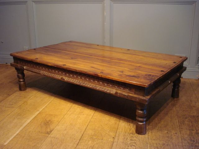 SOLD / LATE 19TH CENTURY ANGLO INDIAN TABLE OR COFFEE TABLE