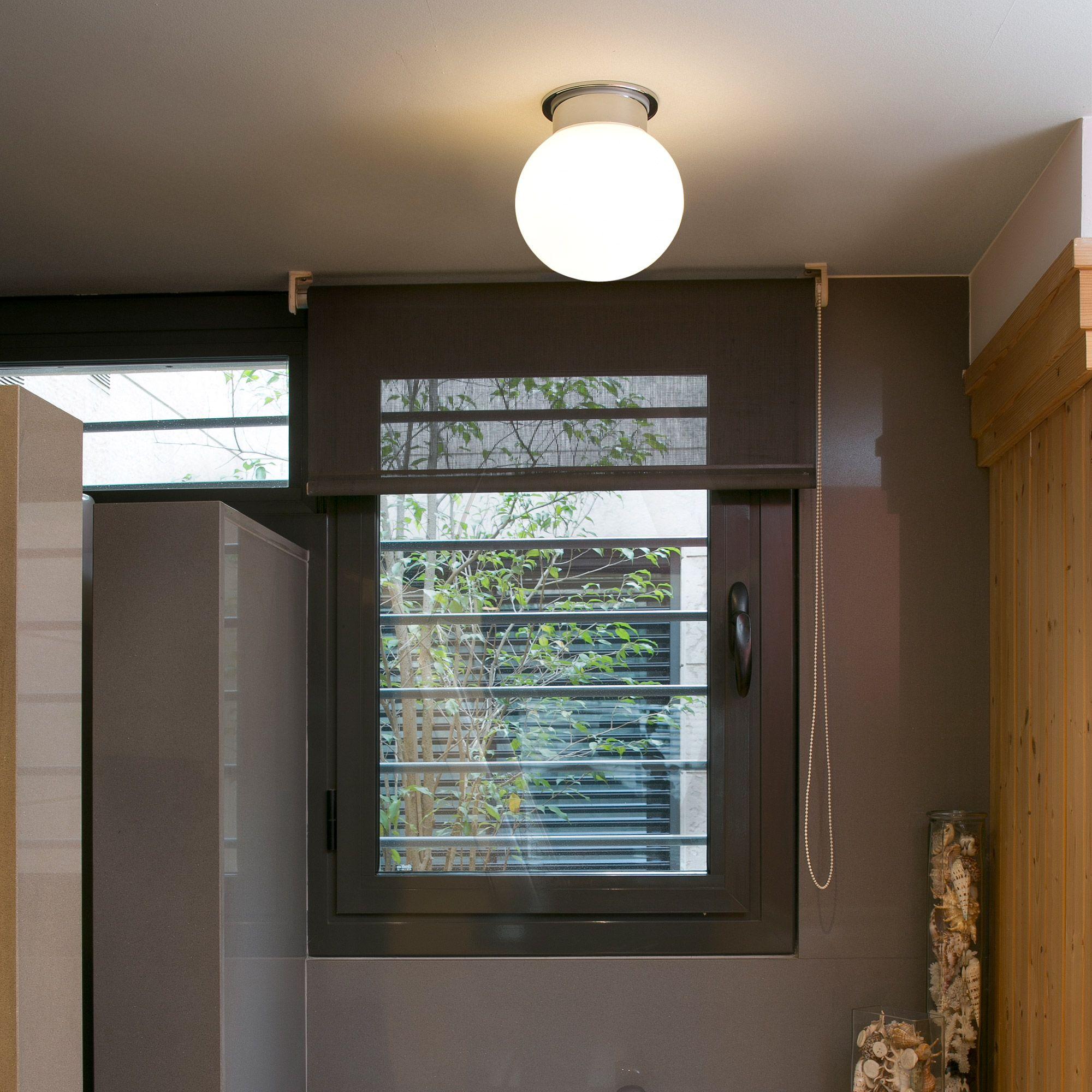 plafonnier de salle de bain globe en mtal et verre diamtre 21cm cora marque - Salle De Bain Metal