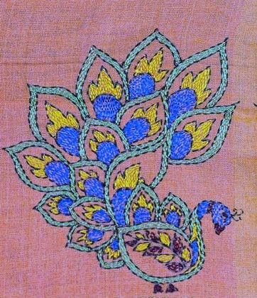 Kantha Motif Peacock Pinterest Embroidery Embroidery Designs