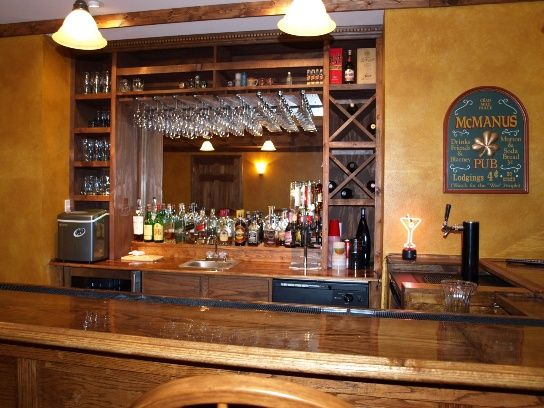 Bar with kegerator pubs pinterest bar basements and for Home bar with kegerator space