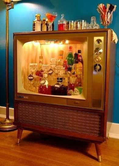 Upcycled TV (Mini Bar)