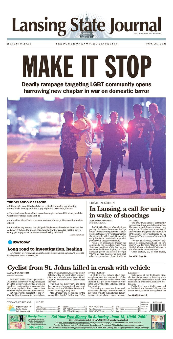 Lansing State Journal | Today's Front Pages | Newseum