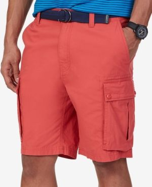 1615a85940 Nautica Big and Tall Shorts, Ripstop Cargo Shorts - Red 44 Big ...