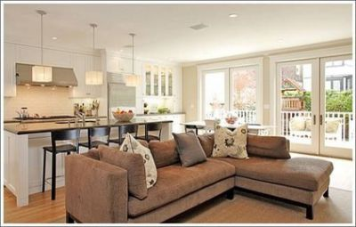 Living Room Kitchen Open Concept Google Search