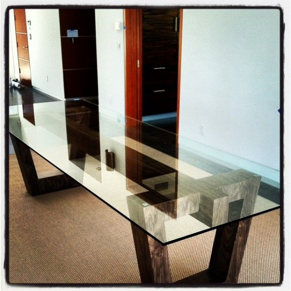 wood base for glass top dining table