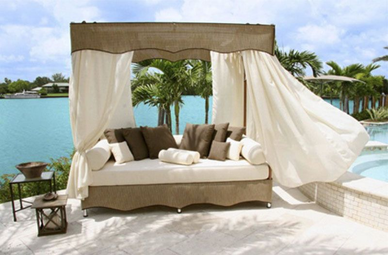 Canopy & Pin by Angie Dill on DIY Outdoor Bed | Pinterest | Outdoor beds ...