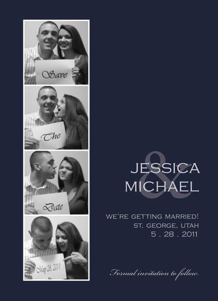 5x7 Wedding Invitation Photo Booth Style