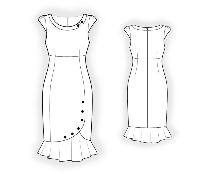 Dress With Collar Patrons De Couture 4414 Made To Measure Sewing